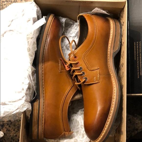 90772c045 Men s Clark s Pitney Walk 9 1 2 M Cognac leather.